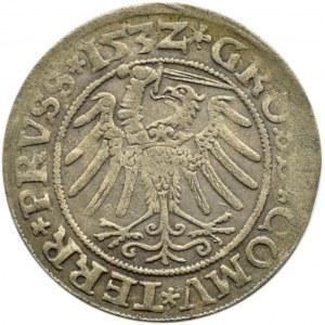 Zygmunt I Stary, grosz pruski 1532, Toruń, PRUS/PRUSS
