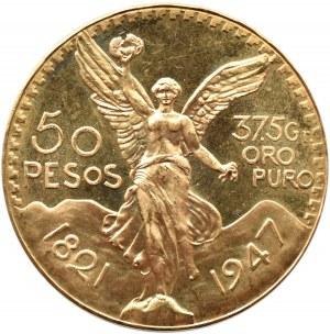 Meksyk, 50 pesos 1947, Meksyk, proof-like?