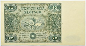 Polska, RP, 20 złotych 1947, seria A, Warszawa, UNC