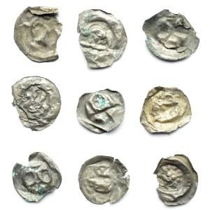 Brakteaty, lot 9 sztuk, II połowa XII wieku (2)