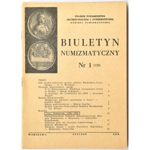Biuletyn Numizmatyczny PTN, pełen rocznik 1979