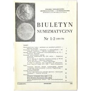 Biuletyn Numizmatyczny PTN, pełen rocznik 1982
