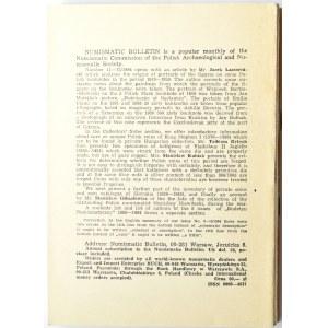 Biuletyn Numizmatyczny PTN, pełen rocznik 1984
