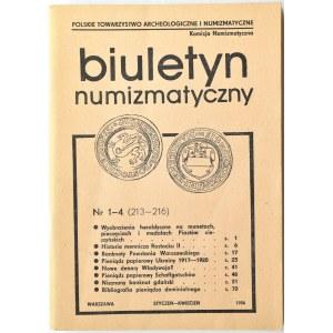 Biuletyn Numizmatyczny PTN, pełen rocznik 1986