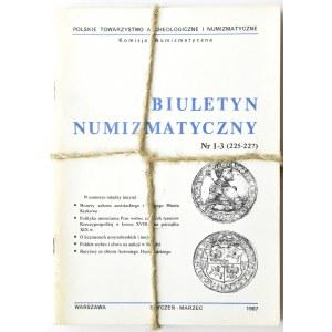Biuletyn Numizmatyczny PTN, pełen rocznik 1987