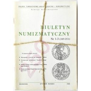 Biuletyn Numizmatyczny PTN, pełen rocznik 1989