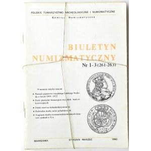 Biuletyn Numizmatyczny PTN, pełen rocznik 1990