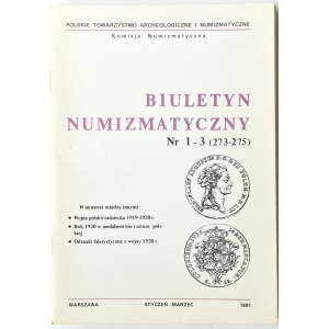 Biuletyn Numizmatyczny PTN, pełen rocznik 1991