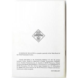 Biuletyn Numizmatyczny PTN, pełen rocznik 1995