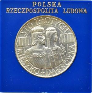 Polska, PRL, 100 złotych 1966, Mieszko i Dąbrówka, próba, UNC