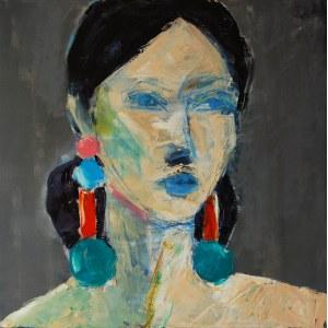 Anna Zawadzka- Dziuda ,Portret z kolczykami 2020