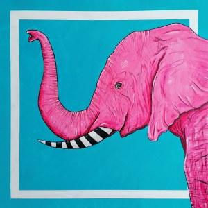 Aleksandra Lacheta (ur. 1992), Różowy słoń, 2021