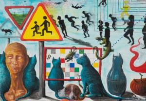 Jerzy Konstantynowicz (ur. 1965), Kot do połowy pełny (A half-full cat), 2021