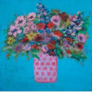 Ika Kay (pseud., ur. 1984), Bukiet w różowej doniczce, 2021