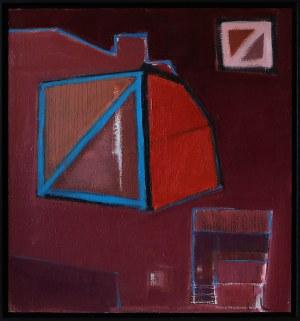 Iwona Stachura (ur. 1968), Recykling szkicu. Różowy 3, 2021
