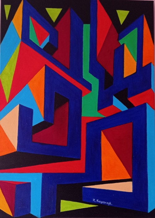 Krystyna Krzyszczyk (ur. 1959), Głębia kolorów, 2021