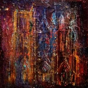Dawid Masionek (ur. 1994), Nokturn z katedrą, 2020