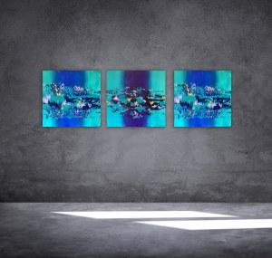 Marta Dunal, TRYPTYK IN BLUE; 2021