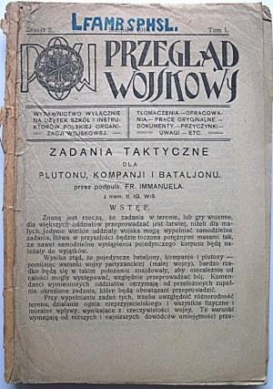 PRZEGLĄD WOJSKOWY. POW. Wydawnictwo wyłącznie na użytek szkół i instruktorów Polskiej Organizacji Wojskowej...