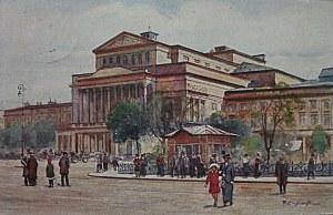 [POCZTÓWKA]. Warszawa. Teatr Wielki malował T. Cieślewski. Sygn. No. 41. Wyd. K. Wojutyńskiego w Warszawie...