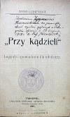 """ŁUBIEŃSKA ANNA. """"Przy kądzieli"""". Legendy i opowiadania dla młodzieży. Tarnopol 1909. Nakł..."""