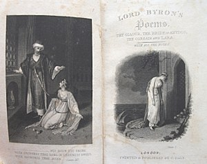 [BYRON GEORGE]. Lord Byron`s Poems. The Giaur, The Bride of Abydos, The Corsair and Lara. With all the notes...