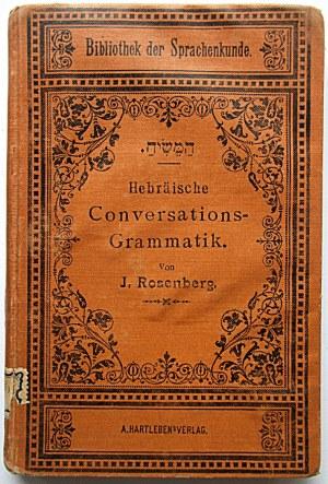 ROSENBERG J. Hebräische Conversations - Grammatik von [...]...