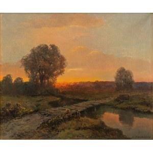 Wiktor Korecki (1890-1980), ZACHÓD SŁOŃCA NAD STRUMIENIEM