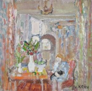 Henryk KRYCH (1905-1980), Wnętrze z dzieckiem