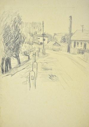 Ludwik MACIĄG (1920-2007), Droga w miasteczku