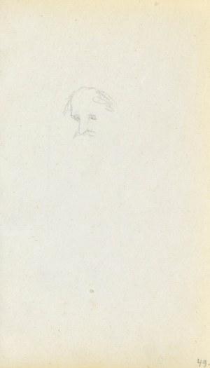 Jacek MALCZEWSKI (1854-1929), Szkic fragmentu głowy starego mężczyzny