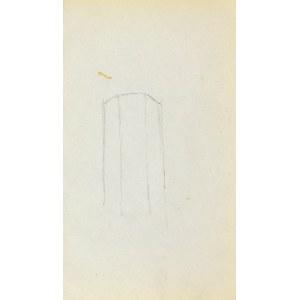 Jacek MALCZEWSKI (1854-1929), Szkic graniastej formy - wieży?