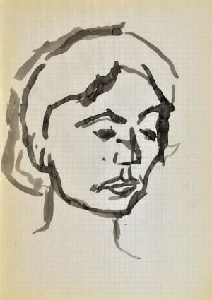 Jerzy PANEK (1918-2001), Głowa młodej kobiety, 1963