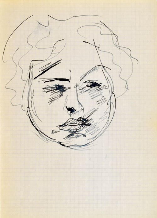 Jerzy PANEK (1918-2001), Twarz dziewczyny IV, 1963