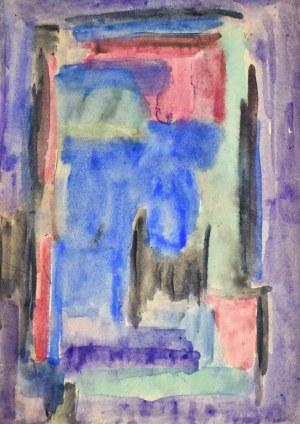 Krystyna PELLETIER (1914-2007), Kompozycja fioletowo-niebieska