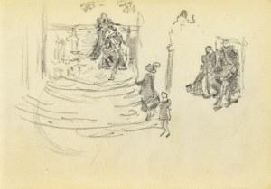 Józef PIENIĄŻEK (1888-1953), Szkice postaci w ujęciu rodzajowym