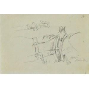 Tadeusz RYBKOWSKI (1848-1926), Szkic uprzęży końskiej