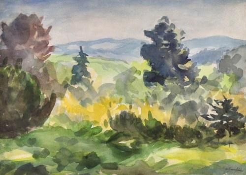 Władysław SERAFIN (1905-1988), Pejzaż z górami w dali