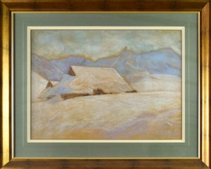 Władysław SERAFIN (1905-1988), Zima w górach - Chaty góralskie pod śniegiem