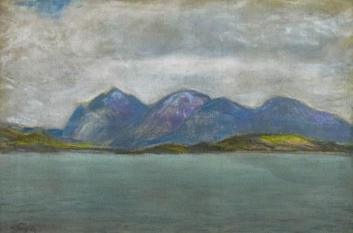 Władysław SERAFIN (1905-1988), Pejzaż nadwodny z górami w tle
