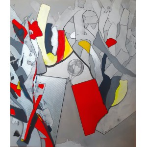 Maga Smolik, Historia o tym, który próbował ukraść księżyc ( z serii Tribute to Mondrian), 2021r.