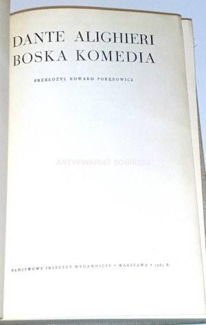 DANTE ALIGHIERI- BOSKA KOMEDIA wyd. ilustrowane