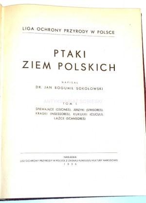 SOKOŁOWSKI - PTAKI ZIEM POLSKICH T.1 1936