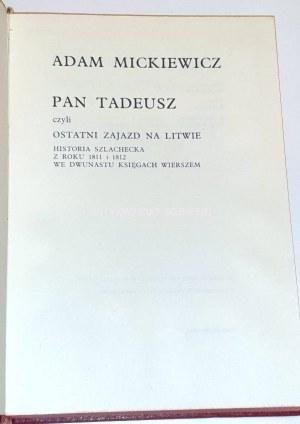 MICKIEWICZ- PAN TADEUSZ ilustracje Szancer SKÓRA etui