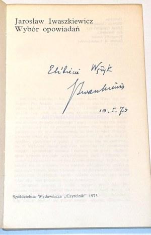 IWASZKIEWICZ - WYBÓR OPOWIADAŃ autograf
