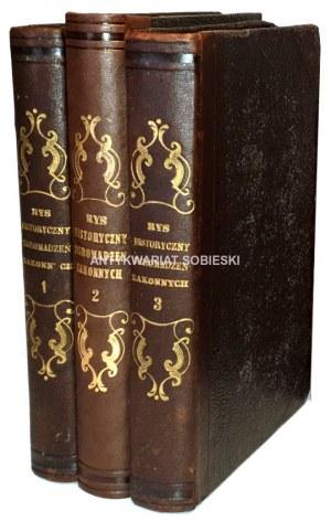 WIETZ, BOHMANN - RYS HISTORYCZNY ZGROMADZEŃ ZAKONNYCH OBOJEJ PŁCI. T.1-3 [komplet w 3 wol.] wyd. 1848-9