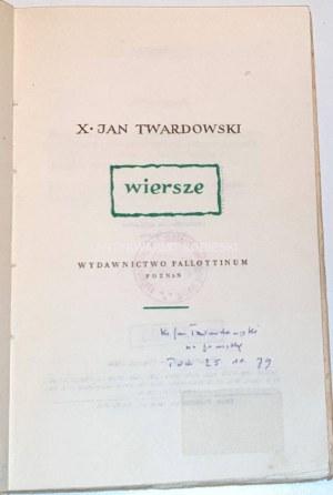 TWARDOWSKI- WIERSZE wyd. 1959 autograf autora