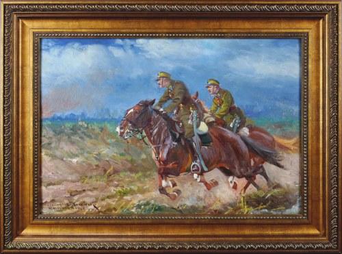 Leonard WINTEROWSKI (1868-1927), Na ratunek – ułani w galopie, 1924