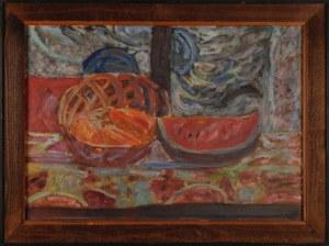 Czesław RZEPIŃSKI (1905-1995), Martwa natura z arbuzem, lata 60. XX w.