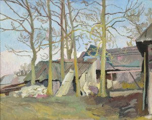 Stanisław KAMOCKI (1875-1944), Zagroda góralska, ok. 1920